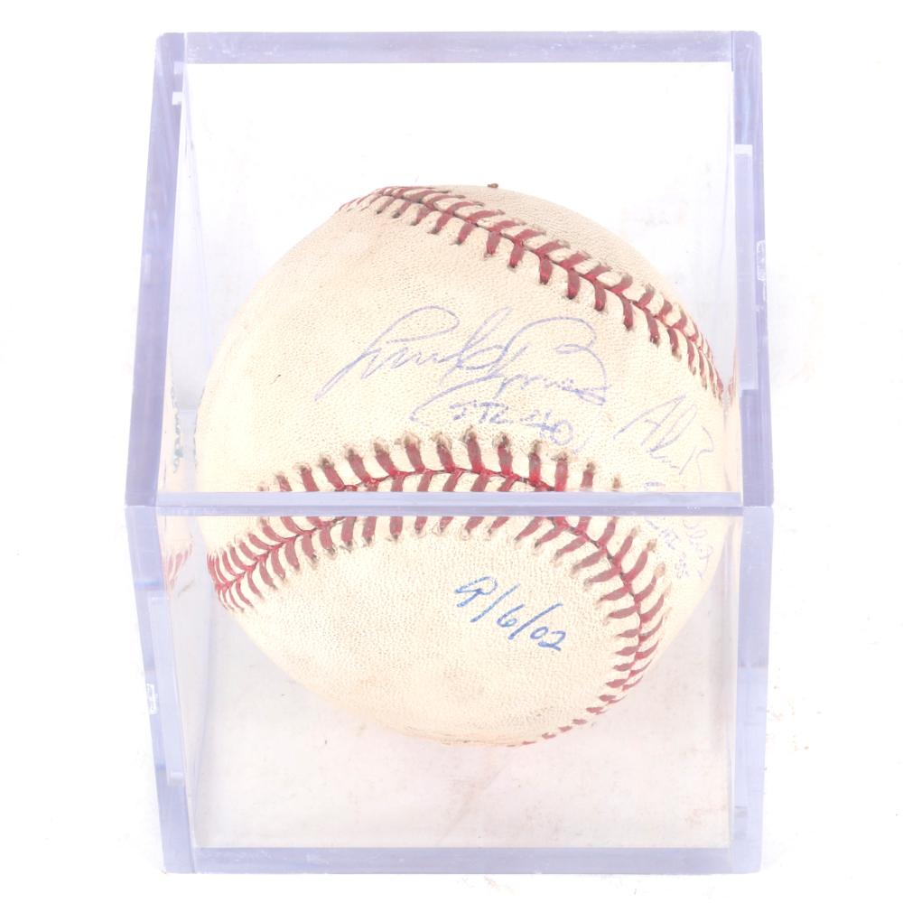 2002 Andy & Alan Benes Autographed Game Used MLB Baseball