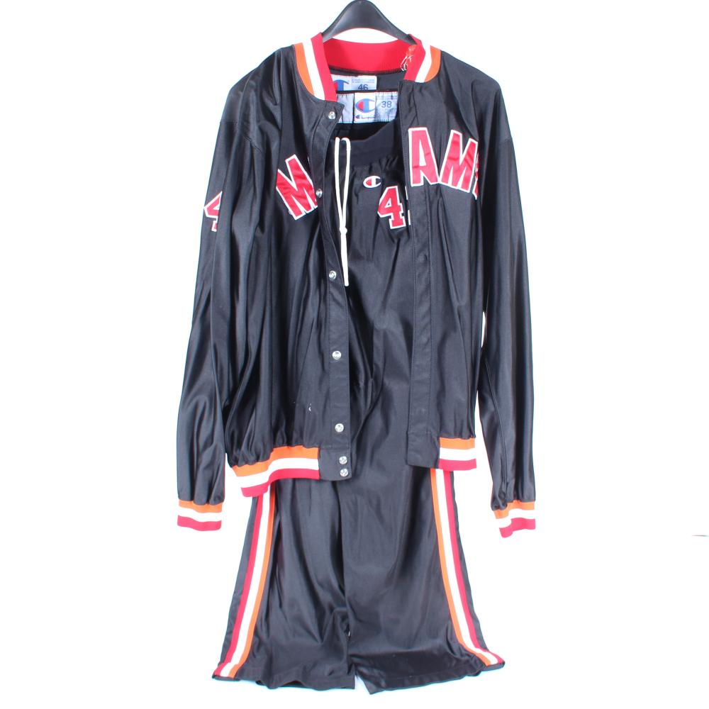 1991 Grant Long Miami Heat Game Used Warm Up Suit
