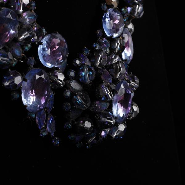 French Haute Couture Vintage Runway Crystal Necklace marked Made in France, manner of Roger Jean Pierre, Scemama, Dior, Jean-Louis S...