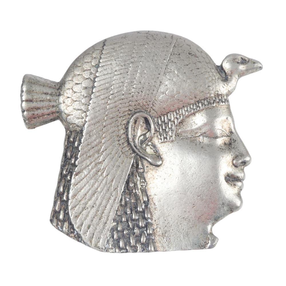 """Egyptian Revival LARGE Horus proflie clip 3 1/4""""H x 3 1/2""""W"""