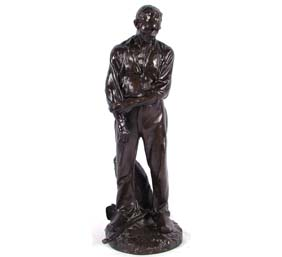 Aime -Jules Dalou French Bronze Man Susse