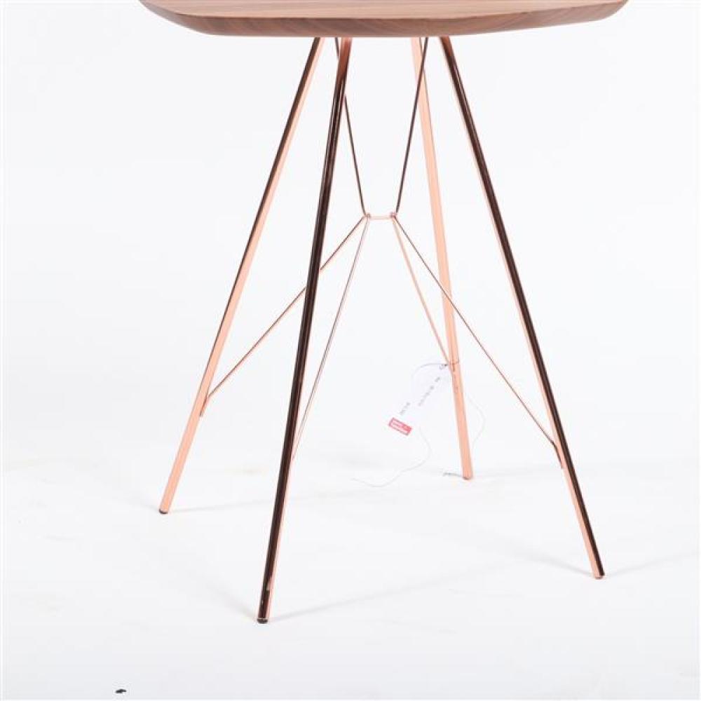 """Zanotta 'Emil' side table designed by Frank Rettenbacher. 25""""H x 12 1/2""""W x 14""""D."""