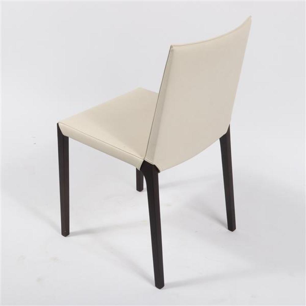 "Set of 4 Zanotta 'Ada' dining chairs designed by Roberto Barbieri, 2007. 32 1/2""H x 18""W x 19""D (one)."