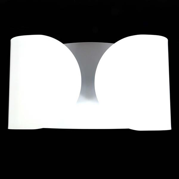 """Flos 'Foglio' 2 light wall sconce designed by Tobia Scarpa, Italy. White finish. 8 1/4""""H x 15""""W."""