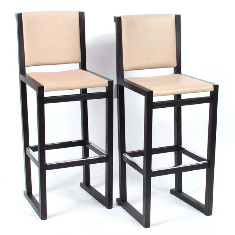 "Pair Maxalto 'Musa' bar stools designed by Antonio Citterio. 45 1/2""H x 18""W x 16 1/2""D."