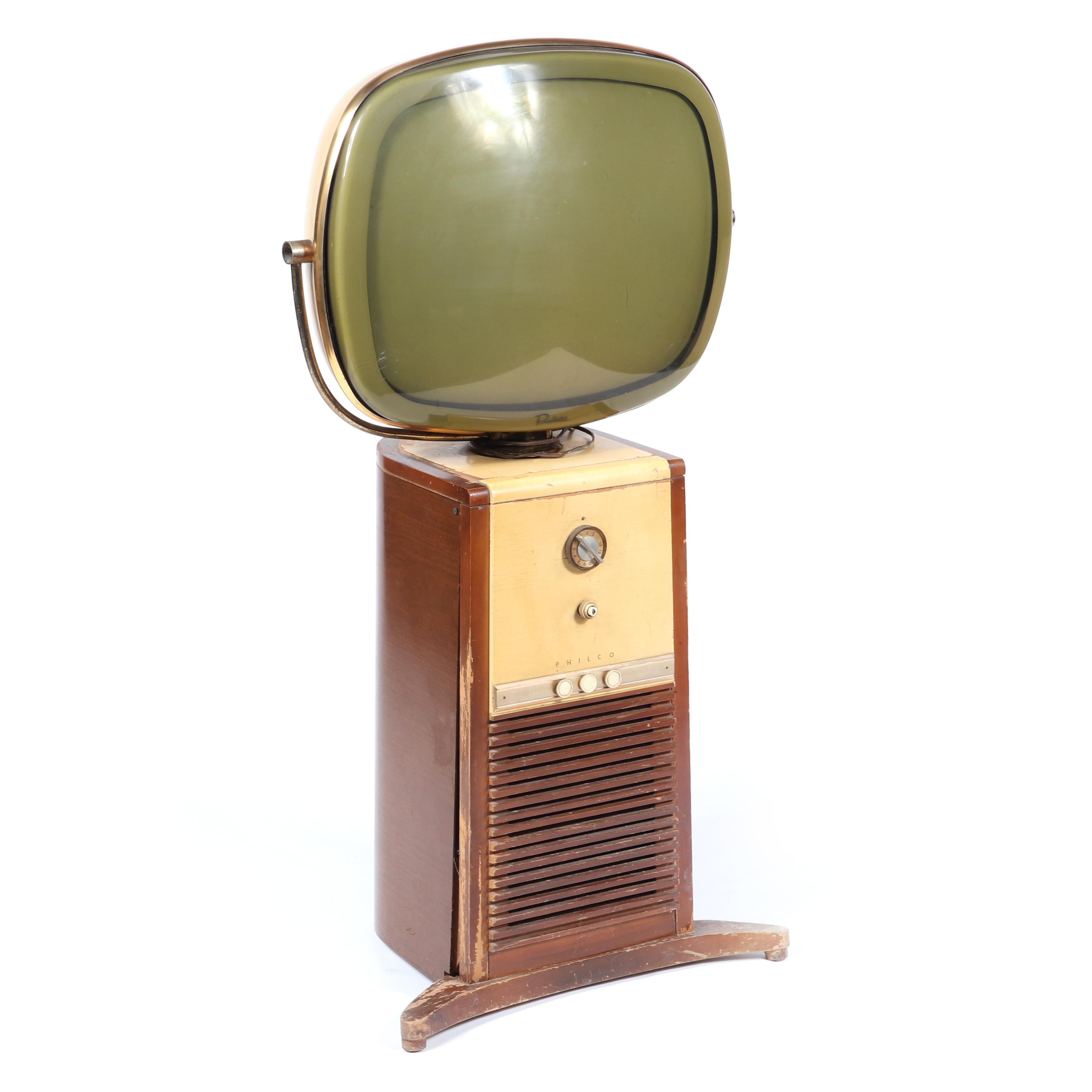 "Vintage Philco Predicta early floor model 'Pedestal' Television / TV set, 1958. 44""H x 24""W."