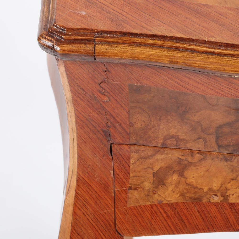 "Louis XV 19th Century French Provincial stand with one side drawer and slide. 28 1/2""H x 18 1/2""W x 15 1/4""D."