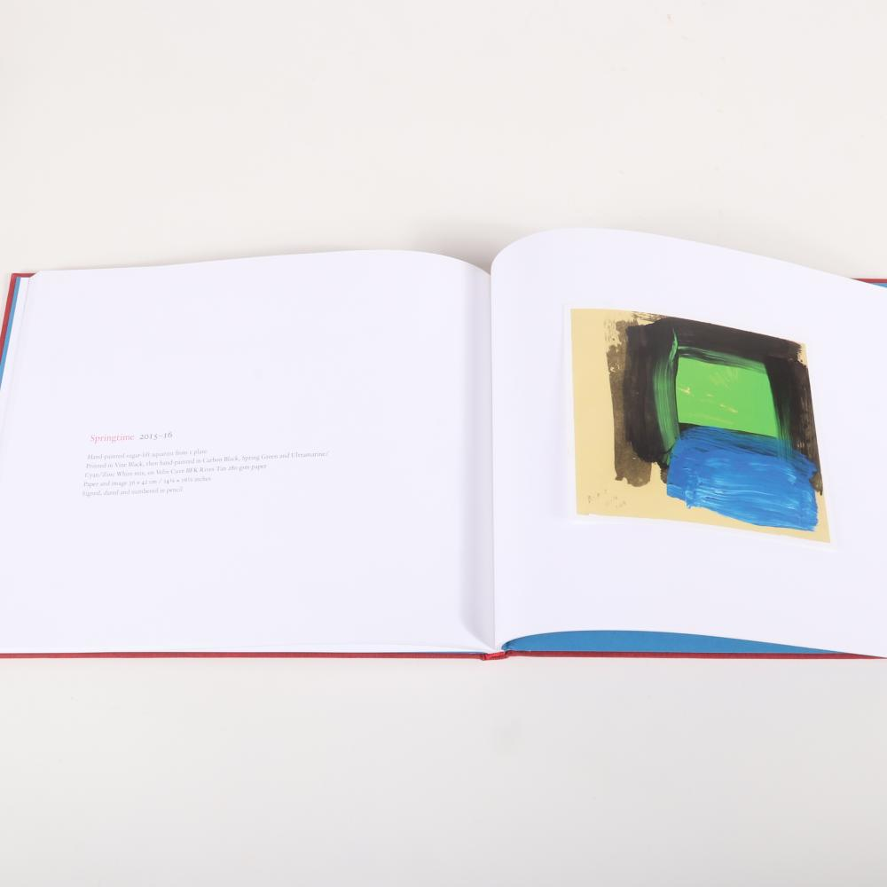 Howard Hodgkin exhibition publications from Alan Cristea Gallery, London. Three catalog volumes and encased pair of offset prints titled As Time Goes By 2009, Green Thoughts 2014, After All 2016, Acquainted With the N...