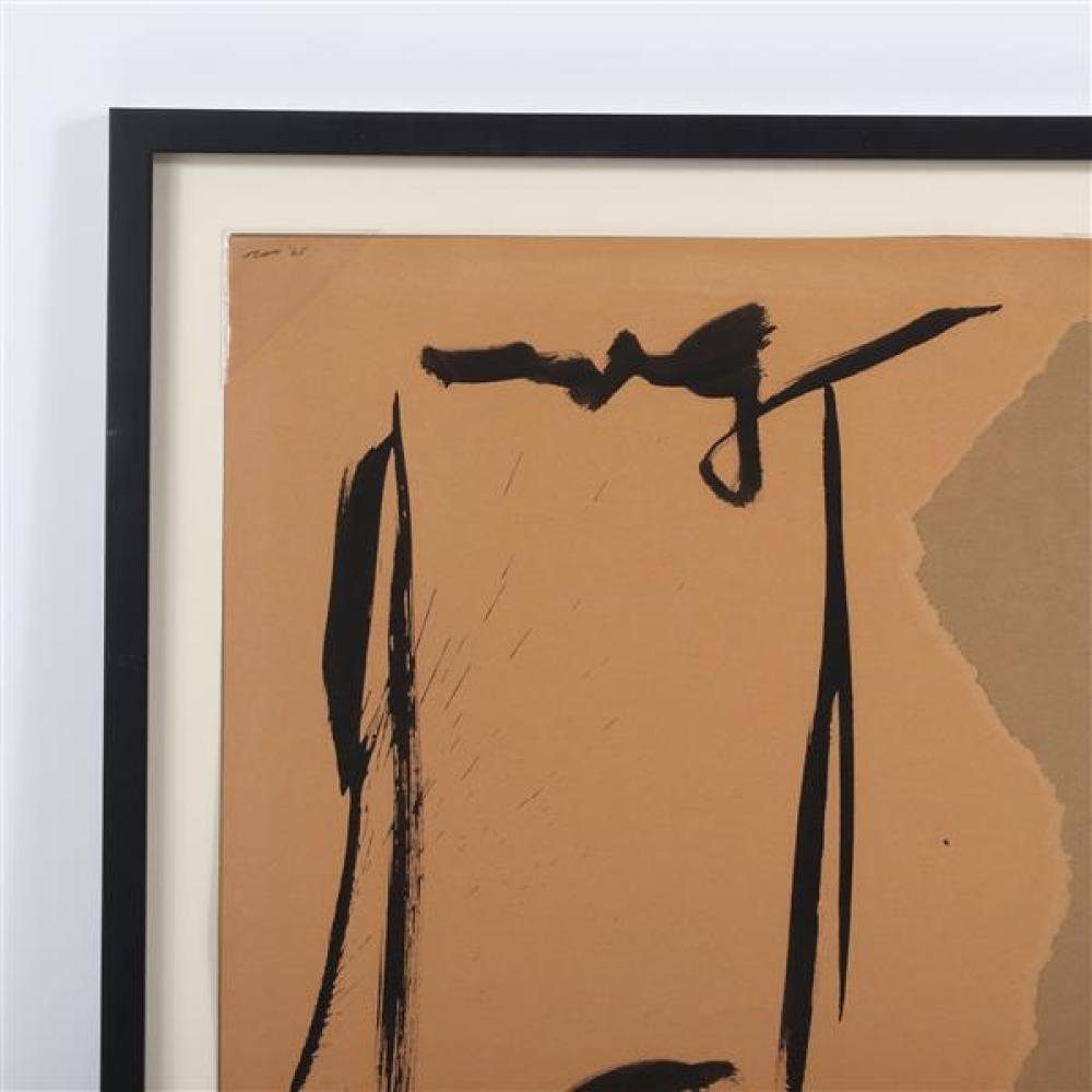 "Jack Roth, (New Jersey / New York, 1927-2004), untitled, 1965, acrylic and collage on paper, 23 1/2""H x 17 3/4""W (sight), 27 3/4""H x 22""W (frame)."