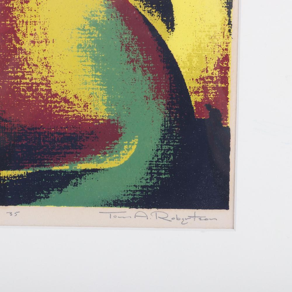 """Thomas Arthur Robertson, (American, 1911-1976), Union, c.1940, serigraph, 9 1/2""""H x 7 3/4""""W (image), 20""""H x 16""""W (sheet)."""