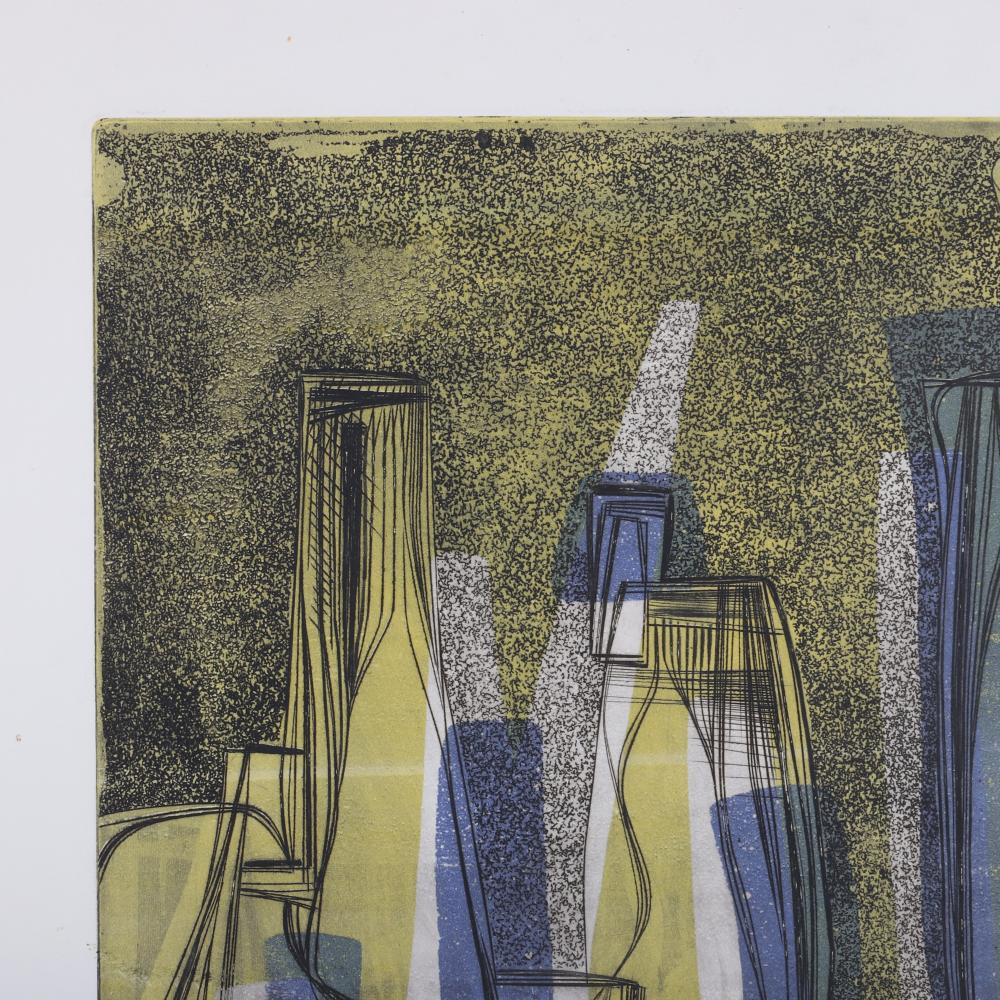 """Thomas Eldred, (New York / Michigan, 1903-1993), TWO color etchings, 25 1/4""""""""H x 19 1/2""""""""W (paper)."""