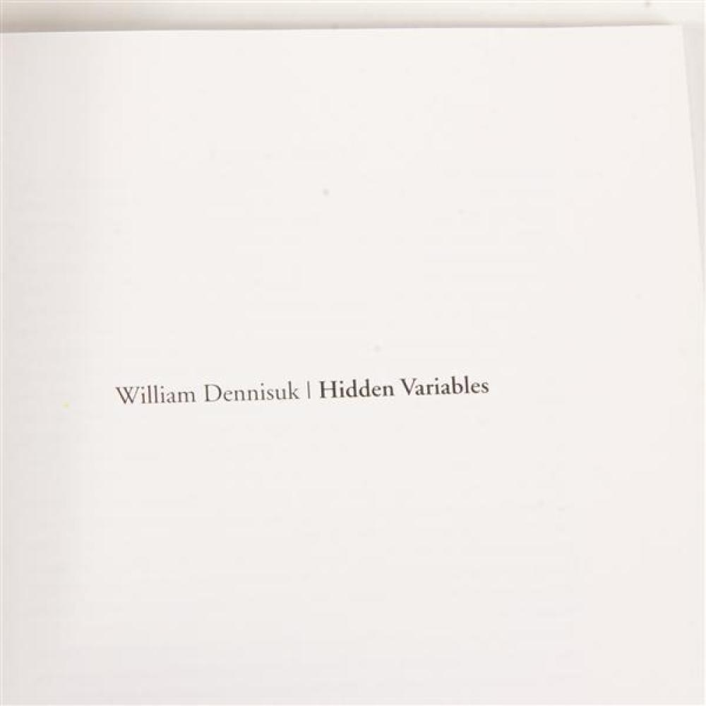 "William Dennisuk, (Finnish, 20th/21st Century), Hidden Variables; ""Tacit"", Sculpture in plaster and glass."
