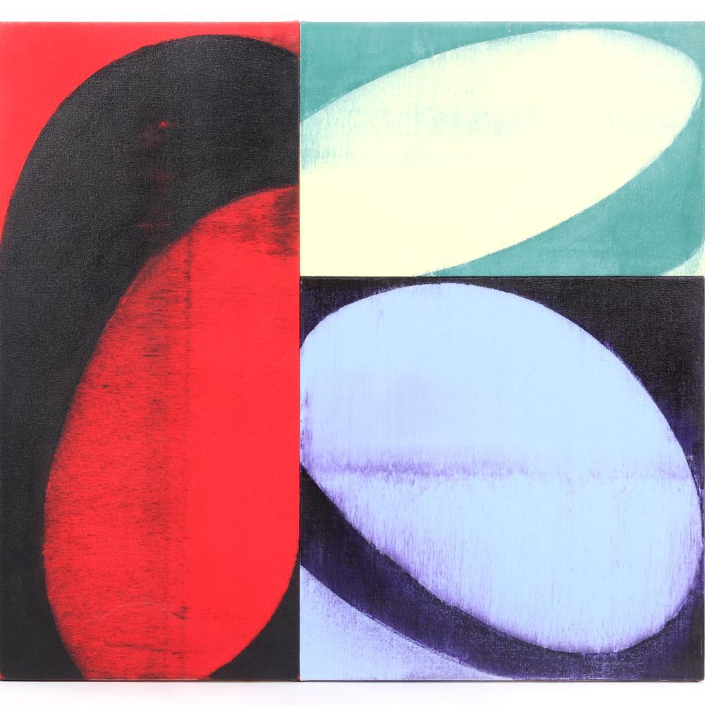 "Charles Arnoldi, (American, b.1946), Jackhammer, 2005, acrylic on canvas over panel, 26""H x 28""W."