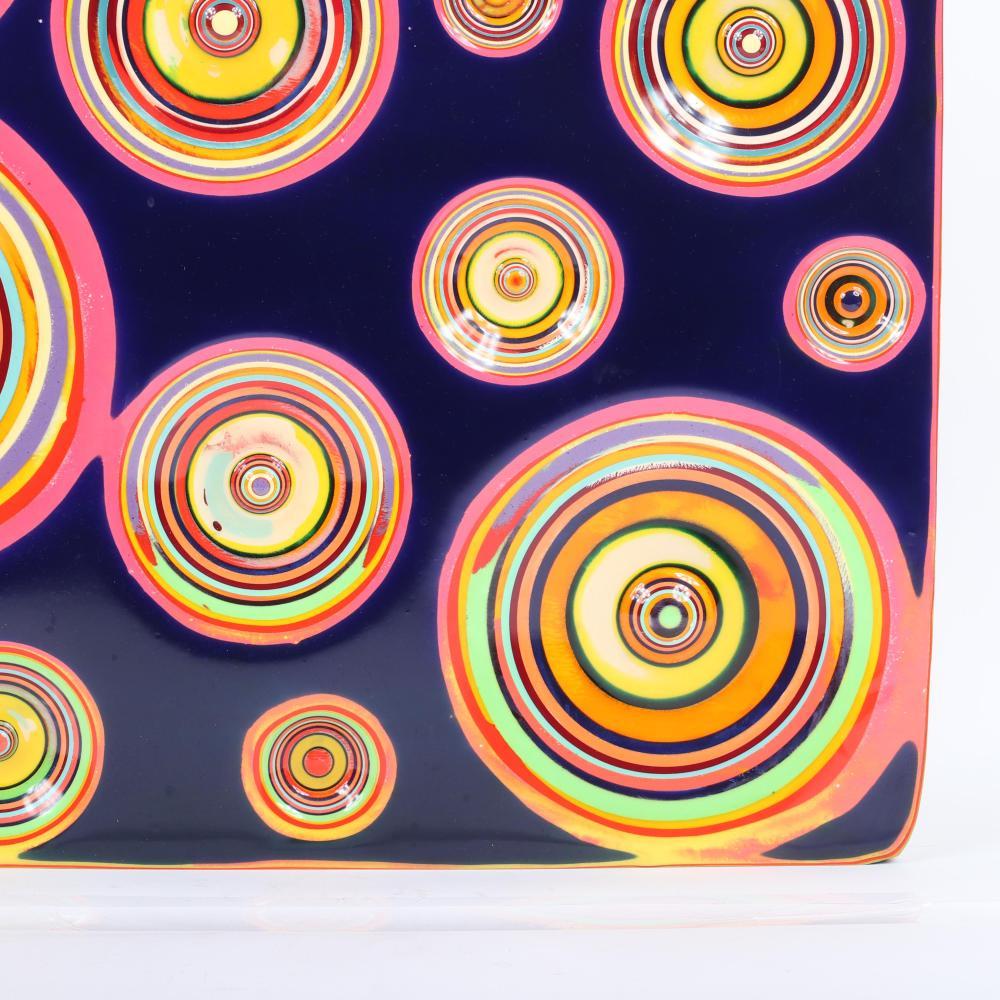 "Markus Linnenbrink, (German, b.1961), PSYCHOMICKEY, 2004, epoxy resin drill on wood, 28""H X 28 1/2""W."