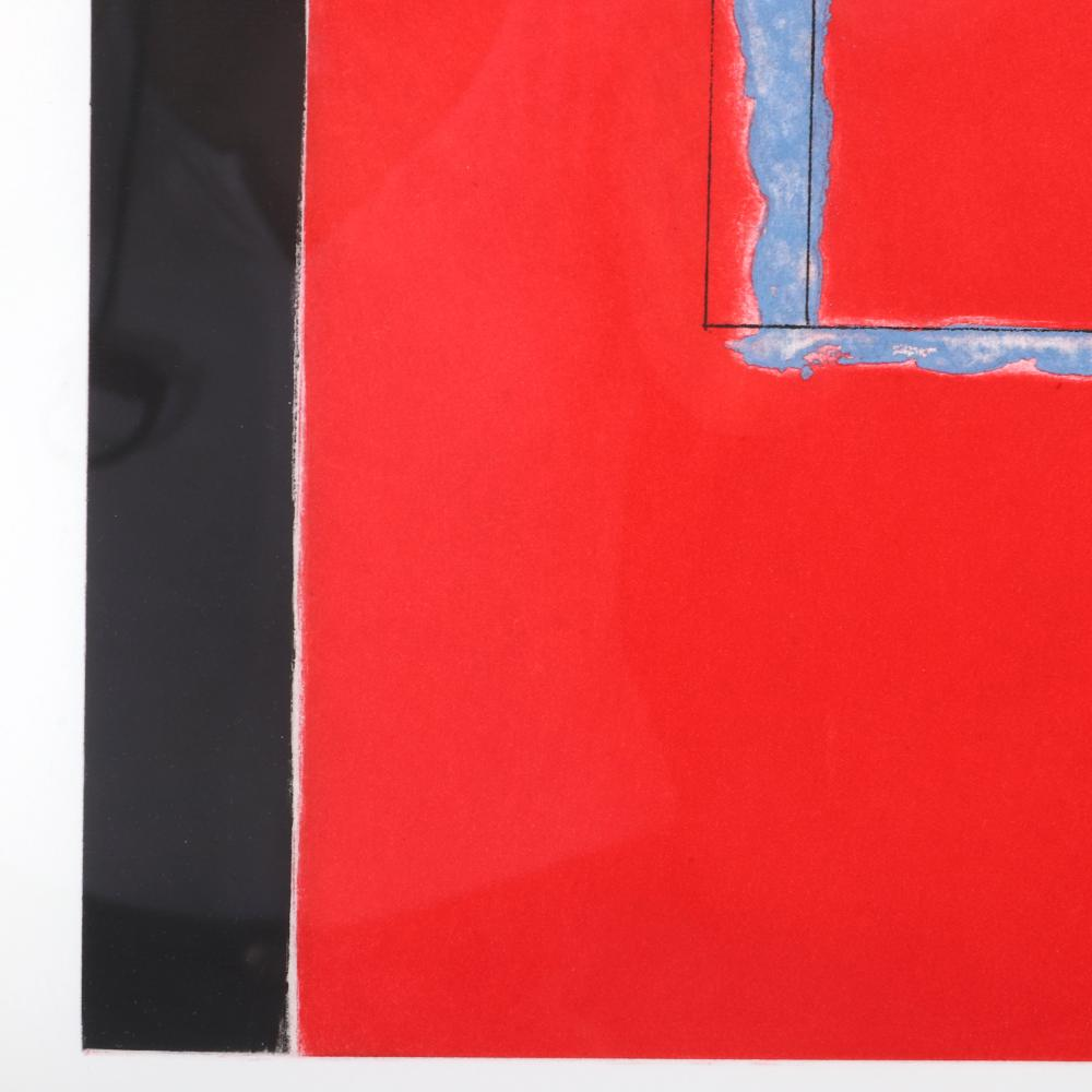 "Robert Motherwell, (American, 1915-1991), Untitled, 1975, aquatint and etching in an edition of 69, 25 3/4"" x 19 3/4""(sight), 28 3/4"" x 22 3/4"" (frame)."