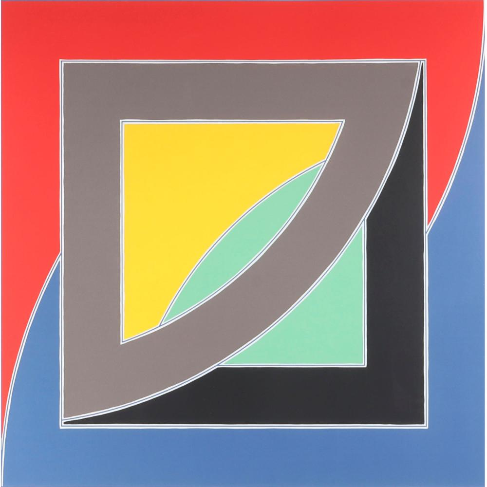 "Frank Stella, (American, b.1936), River of Ponds, III, from the Newfoundland Series, 1971, color lithograph, 38"" x 38"" (sight), 40 1/4"" x 40 1/4"" (frame)."