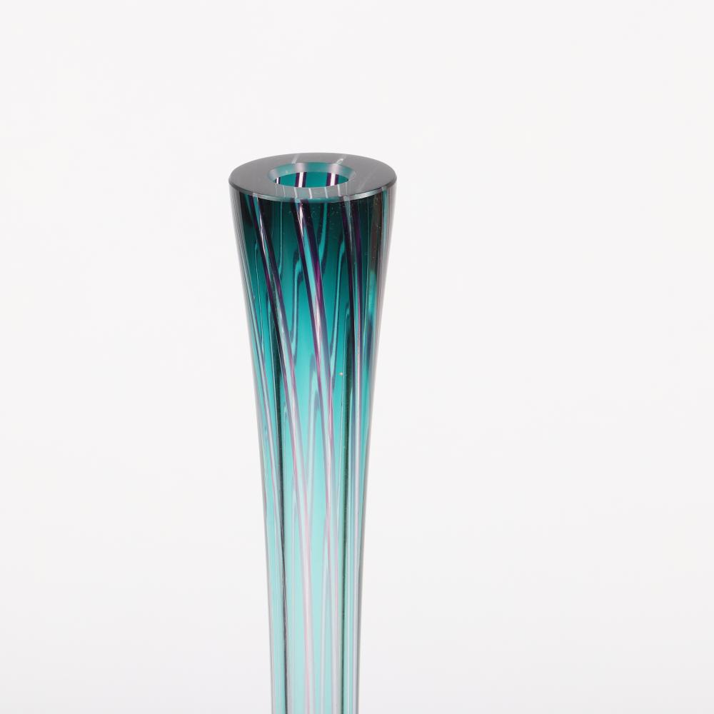 """Stephen Rolfe Powell, (American, 1951-2019), Audacious Peeking Cleavage, Teasers vessel, studio art glass sculpture, Approximately 44""""H x 20""""W x 10""""D."""