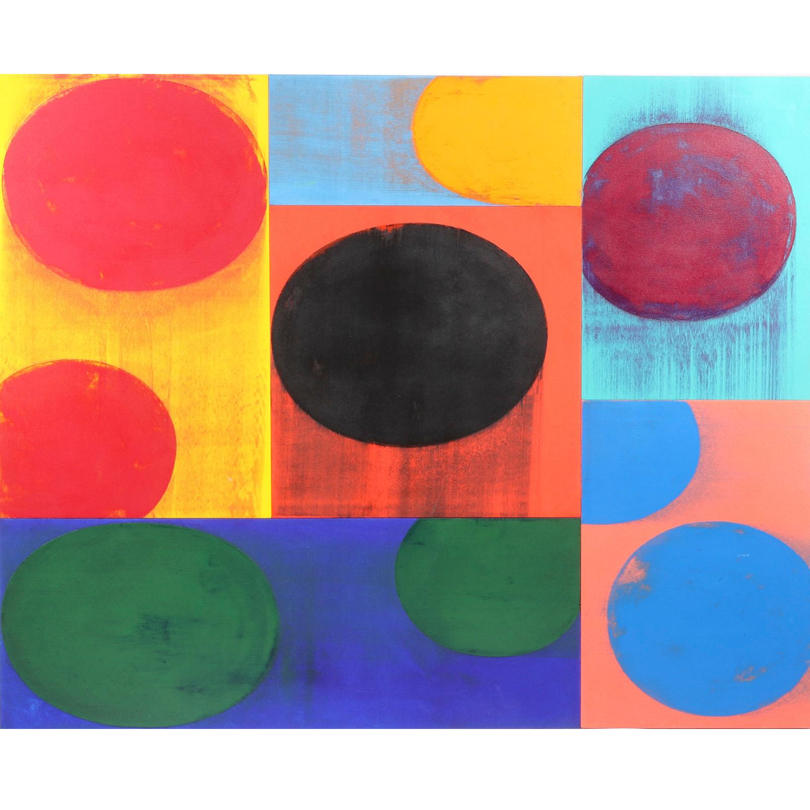 """Charles Arnoldi, (American, b.1946), Utah, 2003, acrylic on canvas over multiple joined panels., 61""""H x 76""""W."""