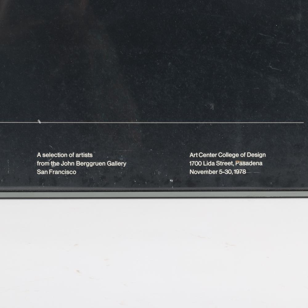 "Frank Stella, (American, b. 1936 - ), York Factory 1970, exhibition poster, 33 3/4""H X 48 1/4""W."