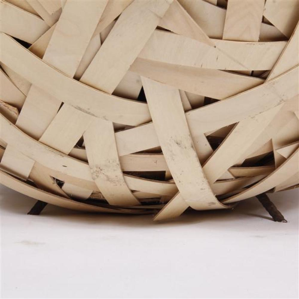 """William Dennisuk, (Finnish, 20th/21st Century), Hidden Variables; """"Implicate"""", Sculpture in plywood and glass, Ca 2001."""