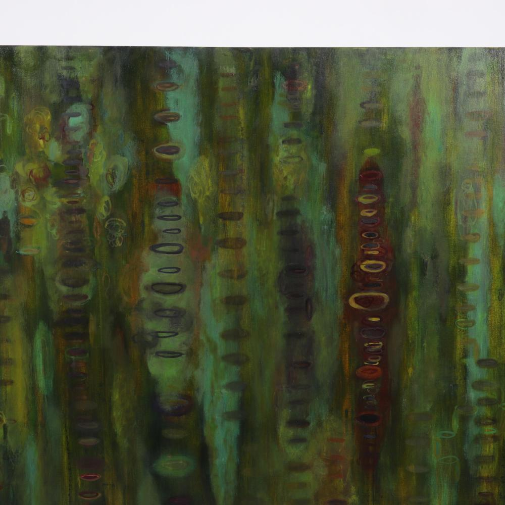 """Valerie Beller, (American, b.1965), Voices, 1999, oil on canvas, 60""""H x 60""""W."""