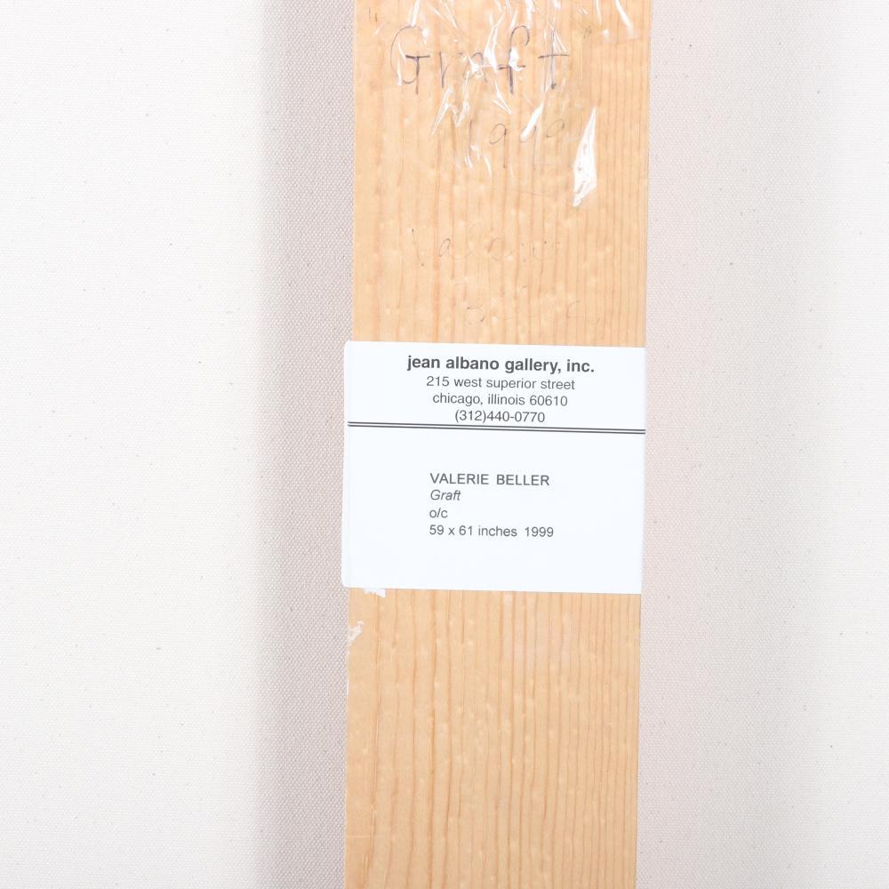 "Valerie Beller, (American, b.1965), Graft, 1999, oil on canvas, 59""H x 61""W."