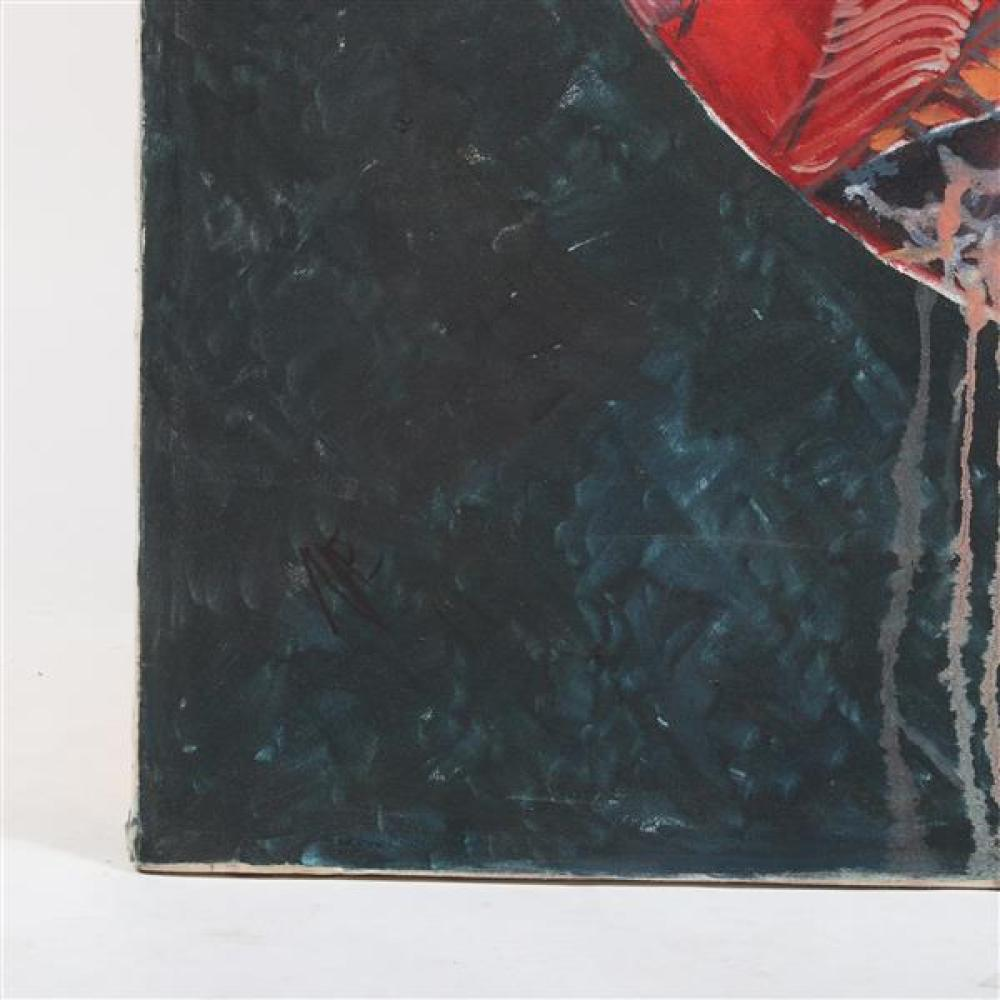 """Mae Alice Engron, (Indiana, 1942-2007), abstract, oil on canvas, 48""""H x 48""""W"""