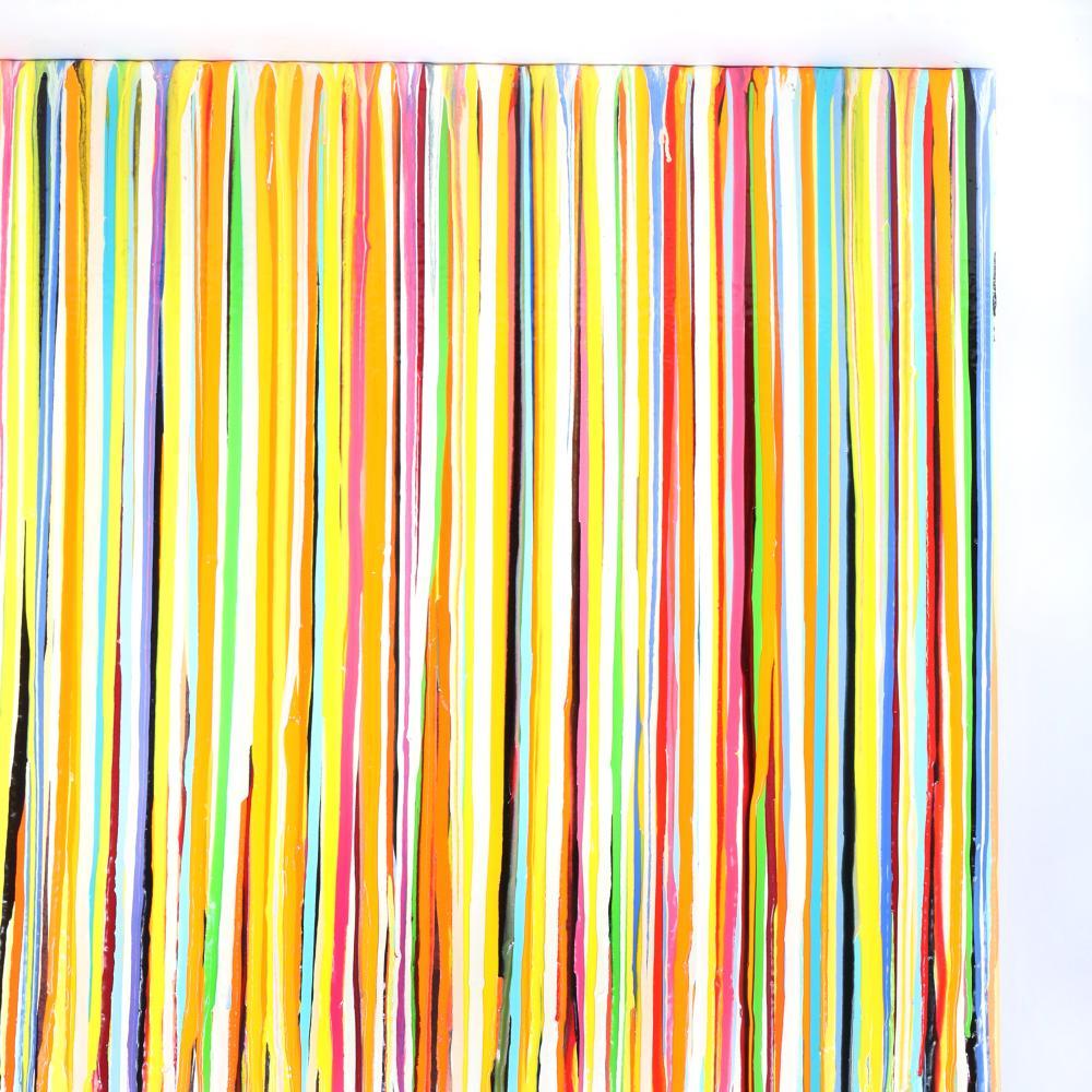 "Markus Linnenbrink, (German, b.1961), ISUPONA, 2004, epoxy resin drip on wood, 28""H x 28""W."