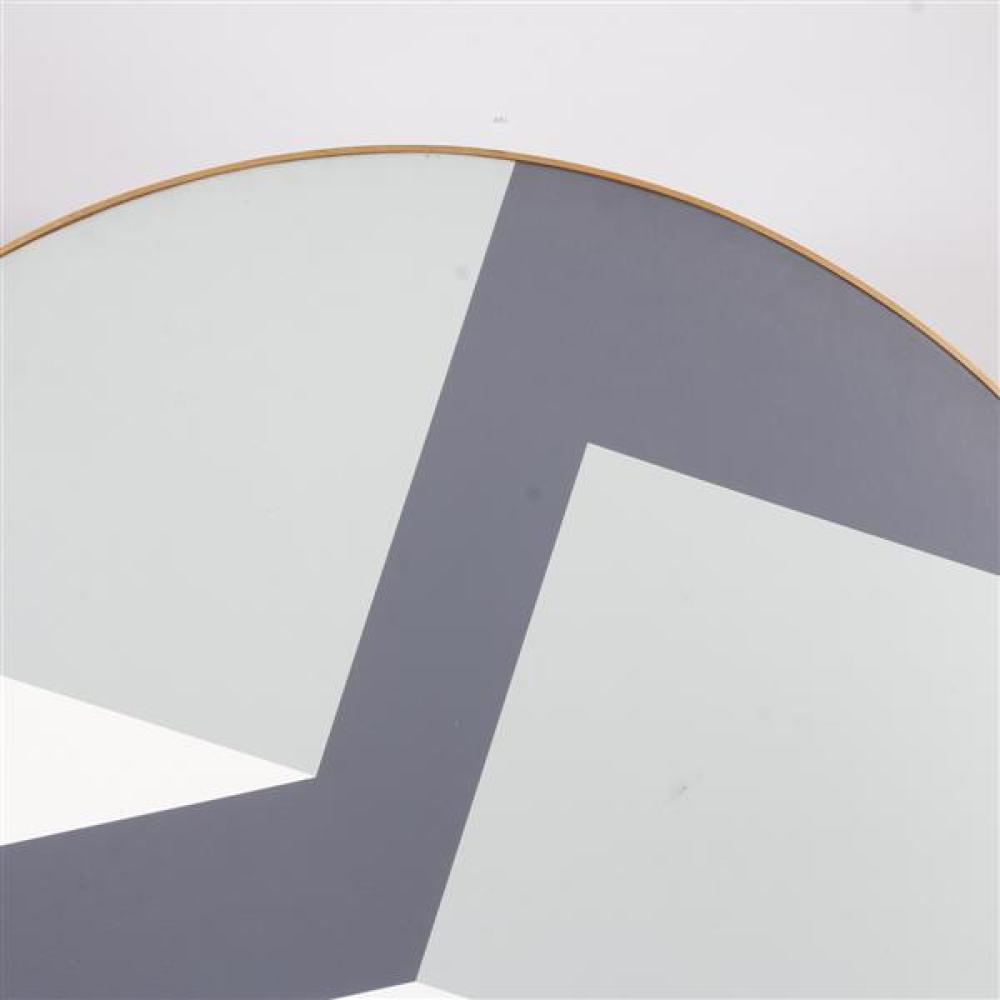 "Rinaldo Paluzzi, (Spanish, 1927-2013), Spacial Construction Series No. 34, 1972, oil on canvas mounted on circular stretcher, 58 3/4""Diam."