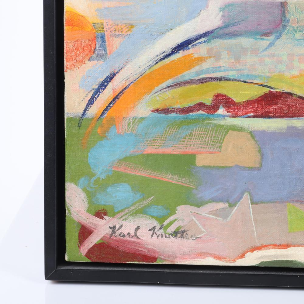 """Karl Knaths, (American, 1891-1971), Provincetown, 1961, oil on canvas, 24""""H x 18""""W (image), 25 1/2""""H x 19 1/4""""W (frame)."""