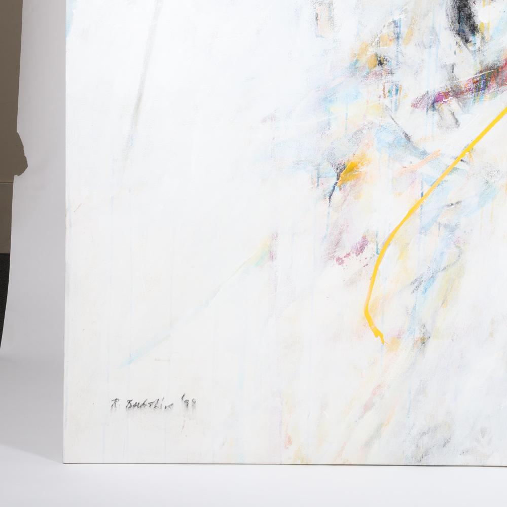 "Robert Berkshire, (American, 1932-2010), untitled 1999, oil on canvas, 66""H x 89""W."