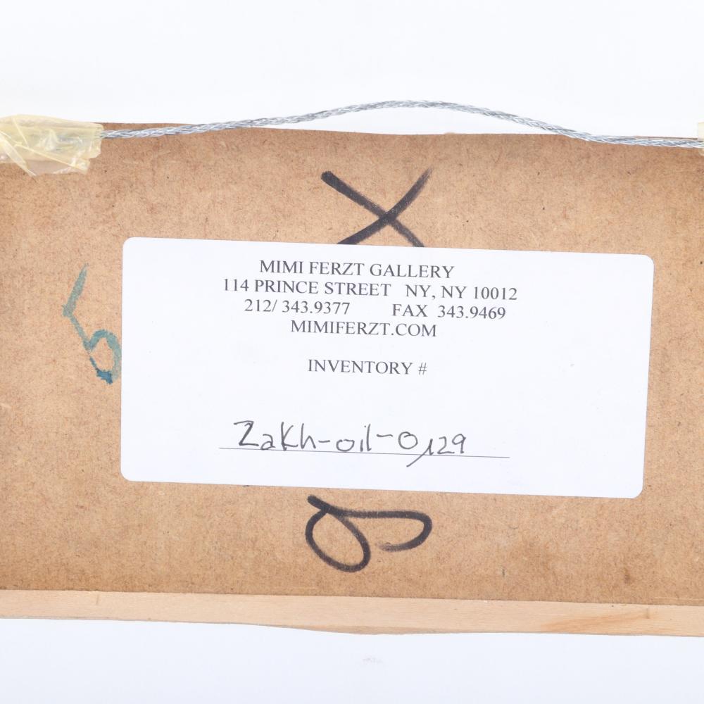 "Alexander Zakharov, (Russian Federation, b.1965), The Fox Hunt, 2002, acrylic on board, 5 3/4"" x 8 3/4"" (sight), 8 3/4"" x 11 3/4"" (frame)."