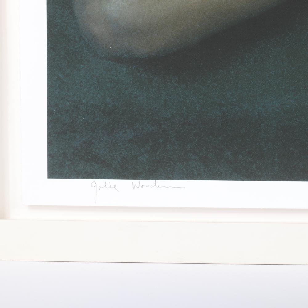 "Annie Leibovitz, (American, b.1949), Julie Worden, 1998, photograph - original iris print on Somerset Velvet watercolor paper, 34 1/2"" x 45"" (photo), 39 1/2""H x 51 1/2""W (frame)."
