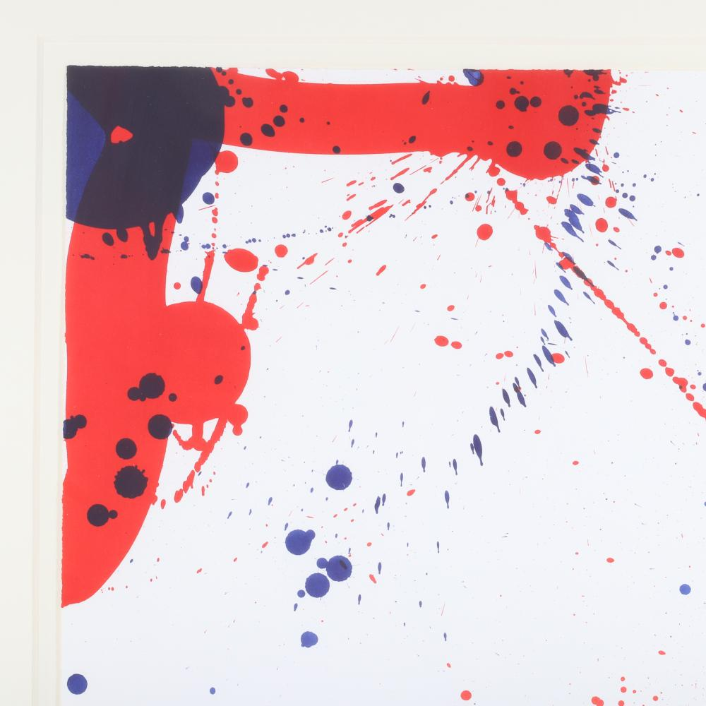 """Sam Francis, (American, 1923-1994), State 1 (N9146) Untitled from Jubilee EX Proof (N9078), lithograph, 25 1/4""""H x 19""""W (sheet), 36""""H x 29""""W (frame)."""