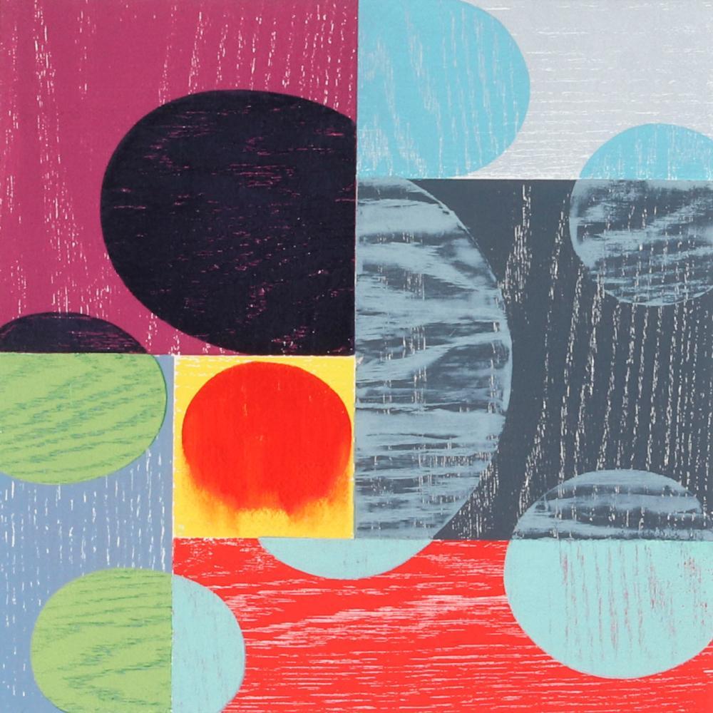 "Charles Arnoldi, (American, b.1946), Threshold, 2001, woodcut on Fabriano Uno paper, 22"" x 22"" (sheet), 31 1/2"" x 30 1/2"" (frame)."