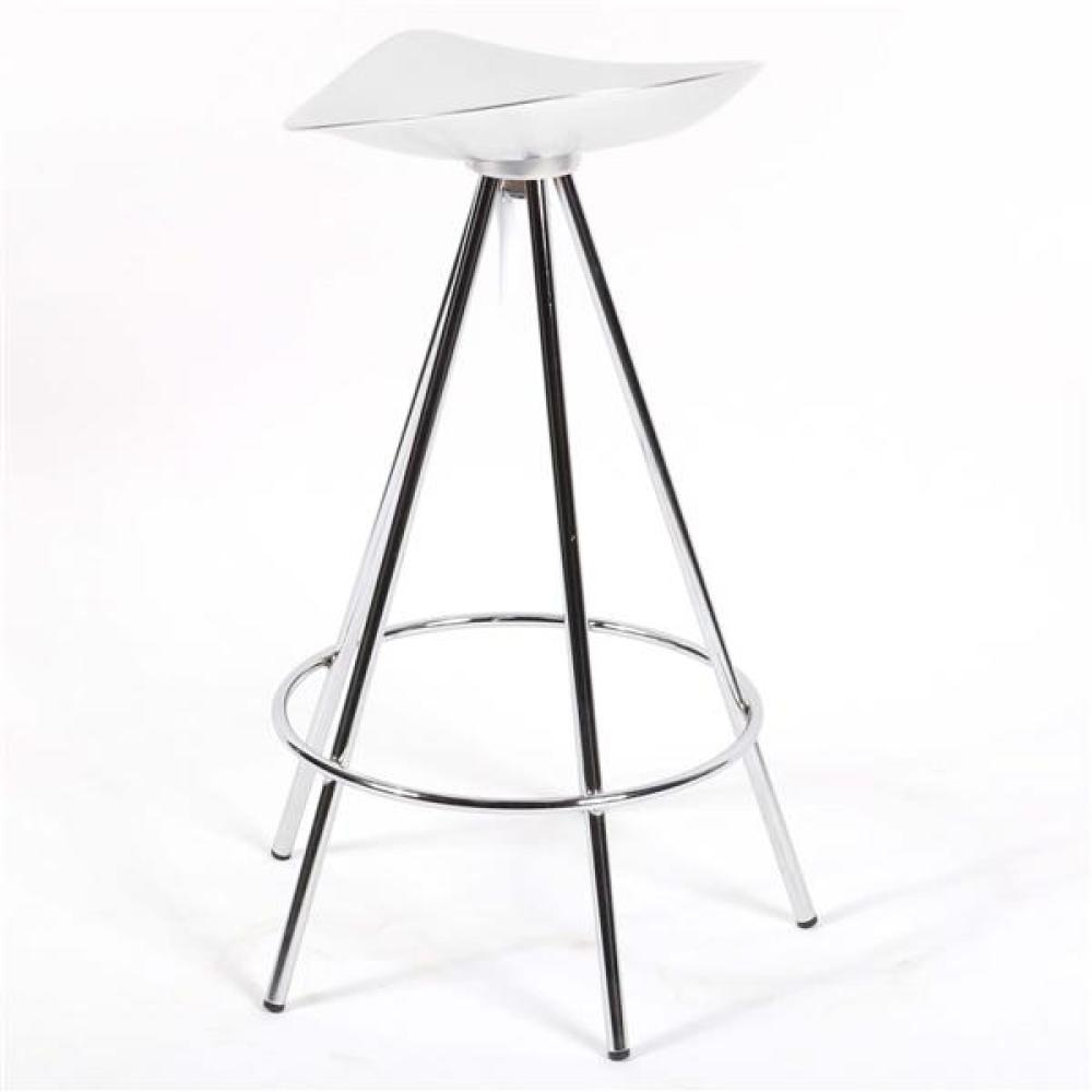 "Knoll 'Jamaica' stainless steel counter / bar stool designed by Pete Cortes. 28""H x 14""W x 18""D."