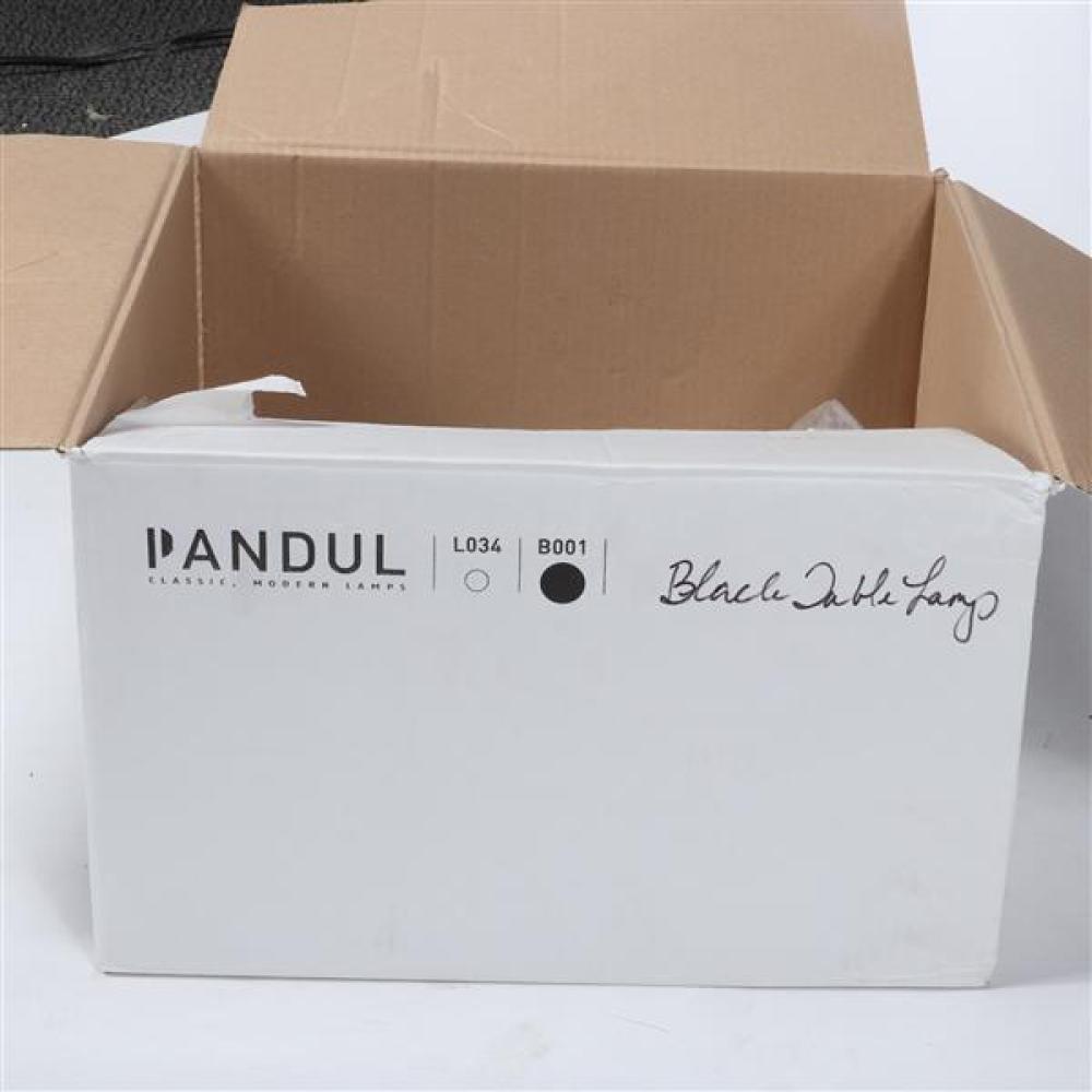 """Pandul 'Opala' table lamp, black, designed by Hans Wegner. 17""""H x 13.5""""Diam (shade)."""