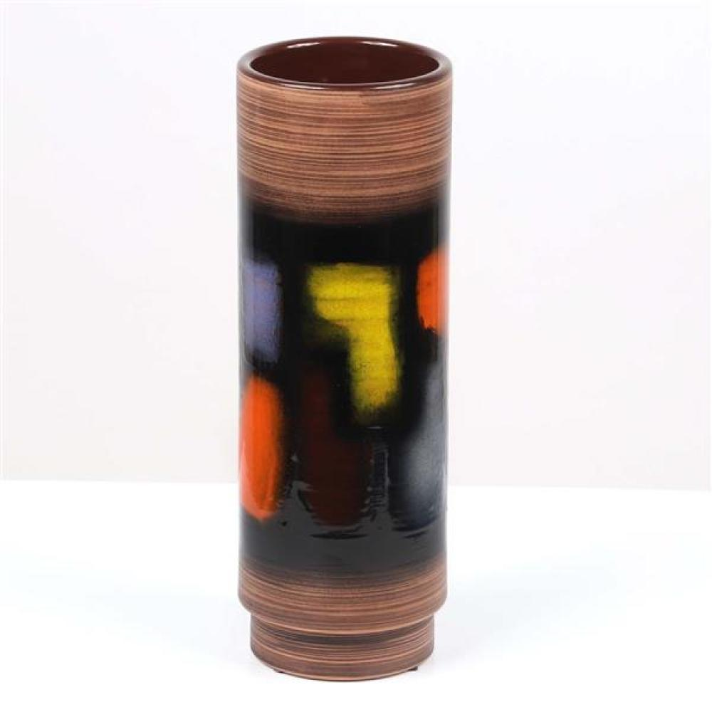 """Cau. G. Bitossi & Figli Italian Mid Century Modern pottery vase, limited edition 76/199. Signed and numbered. 14""""H."""