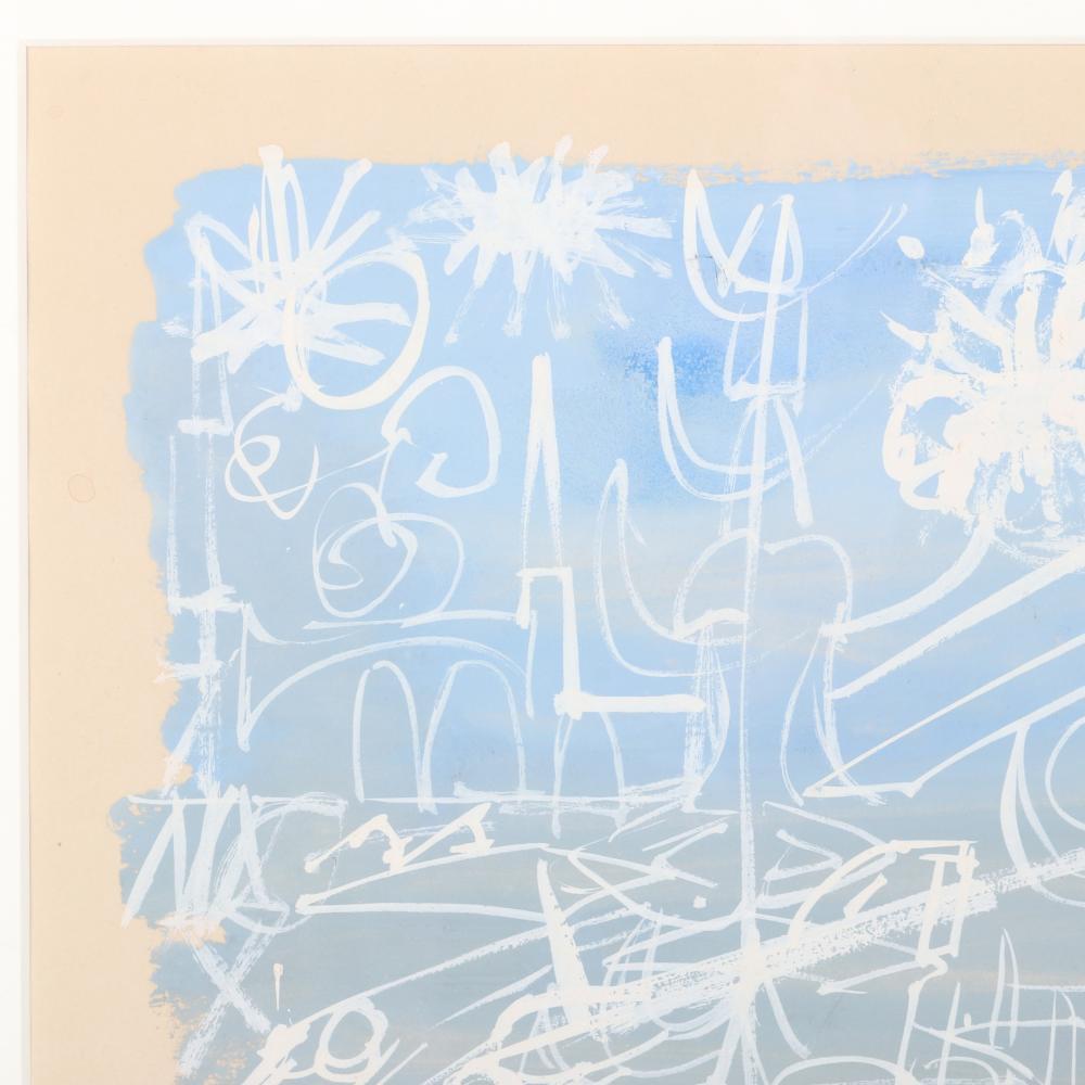 "Sonja / Sonia Sekula, (Swiss-American, 1918-1963), Foam, 1949, gouache on paper, 7""H x 11 3/4""W (image), 16 3/4""H x 14 3/4""W (frame)."
