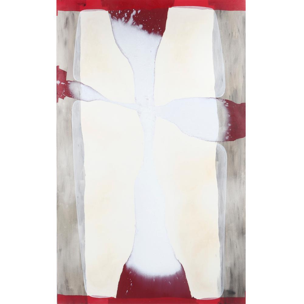 "Ian McKeever, (United Kingdom, b.1946), Sentinel V, 2003, acrylic and oil on canvas, 88 1/2""H x 55 1/2""W."