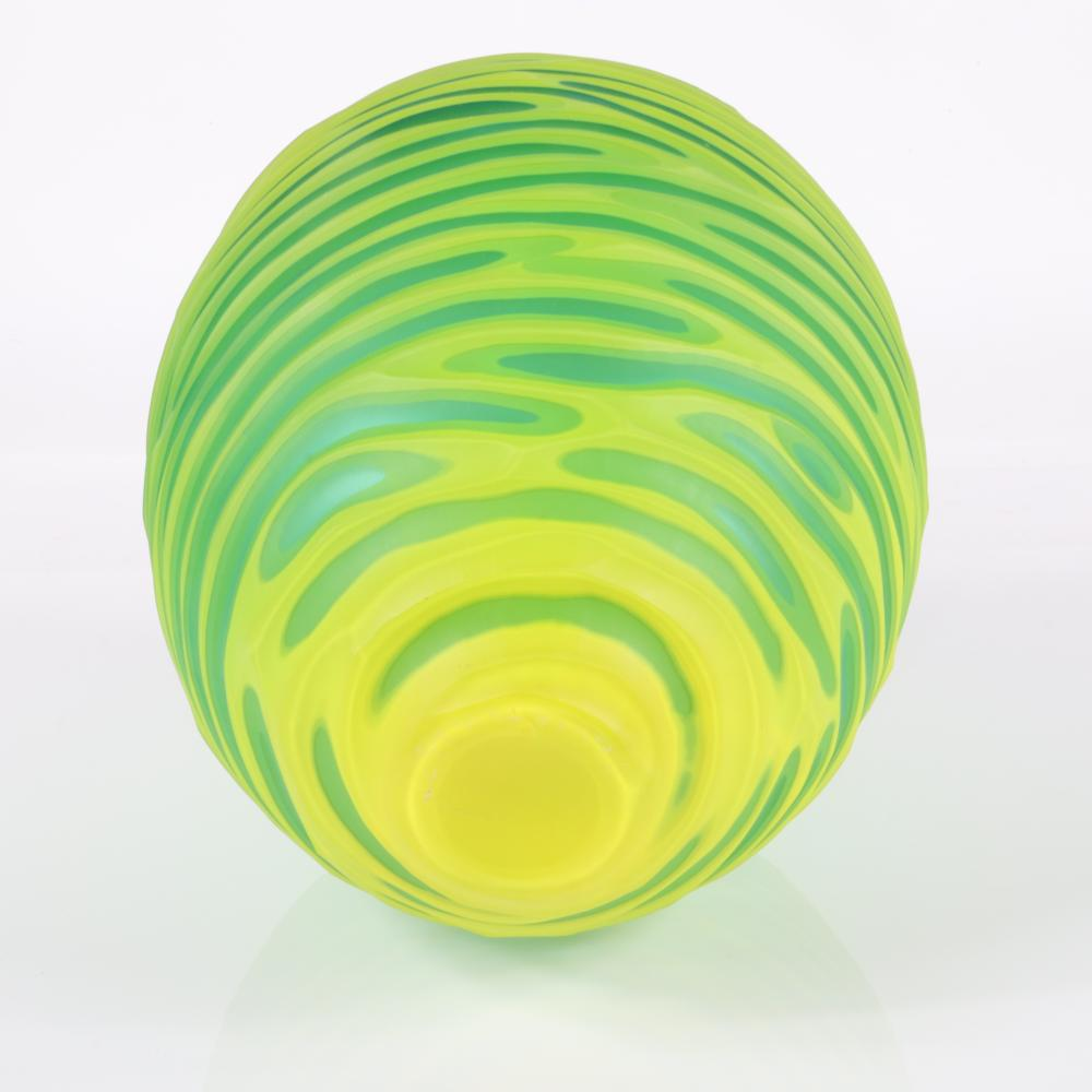 """Philip Baldwin & Monica Guggisberg, (American, 20th Century), Yellow River Sul Garda, hand blown glass, 15""""H."""