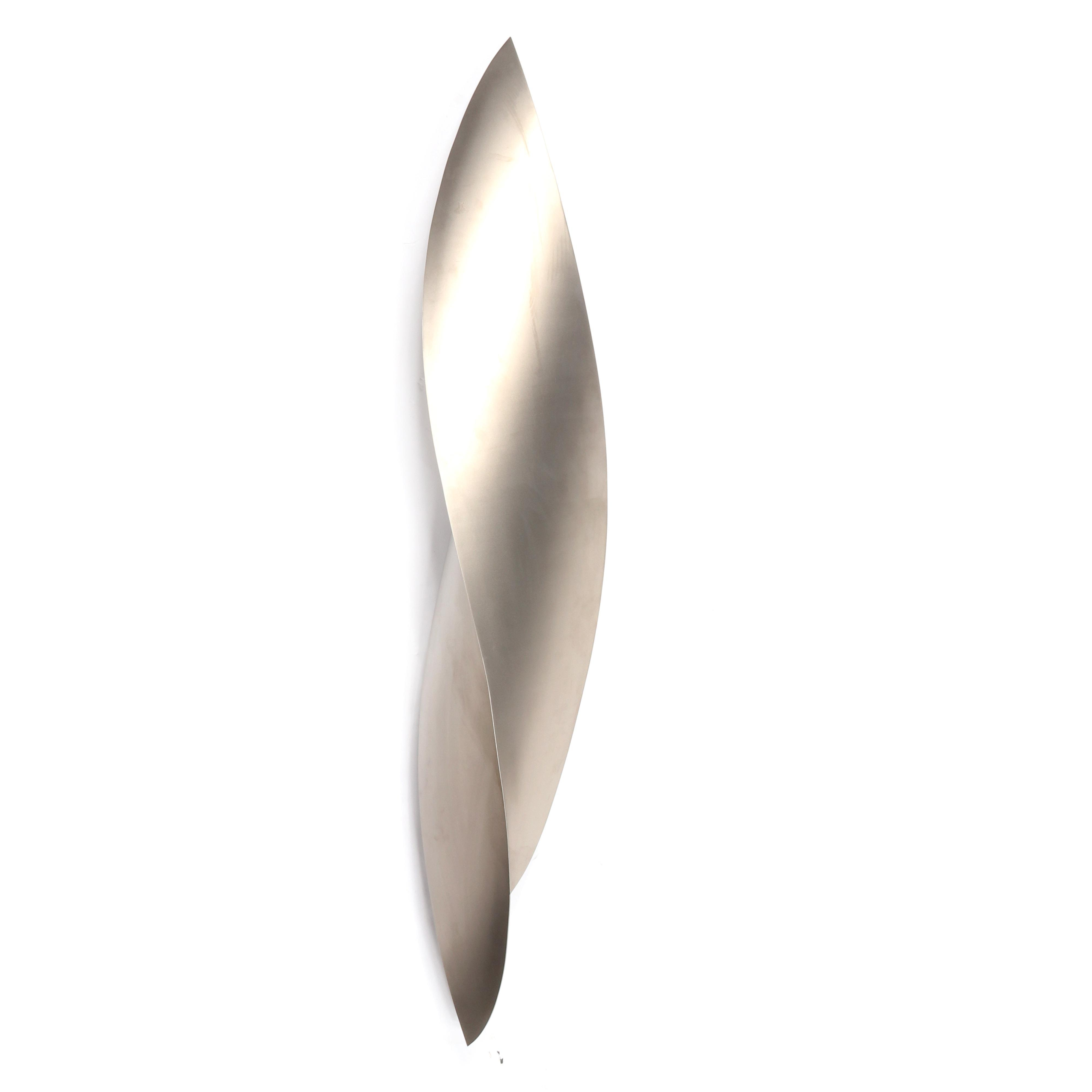 """Juan Asensio, (Equadorian, b.1959), Untitled 2007, stainless steel sculpture, Approximately 70""""H x 11""""W x 8 1/2""""D."""