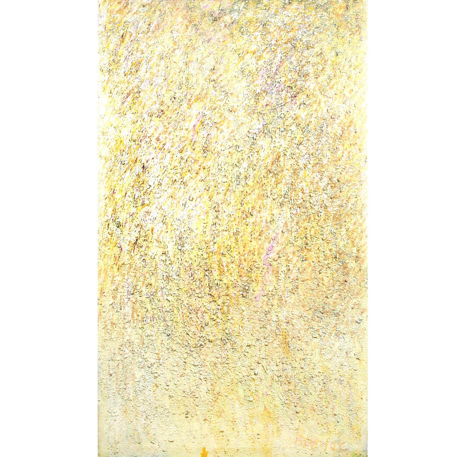 "Jake Berthot, (1939 -2015), Onion Snow, impasto oil on canvas, 55 1/2""H x 48""W ."