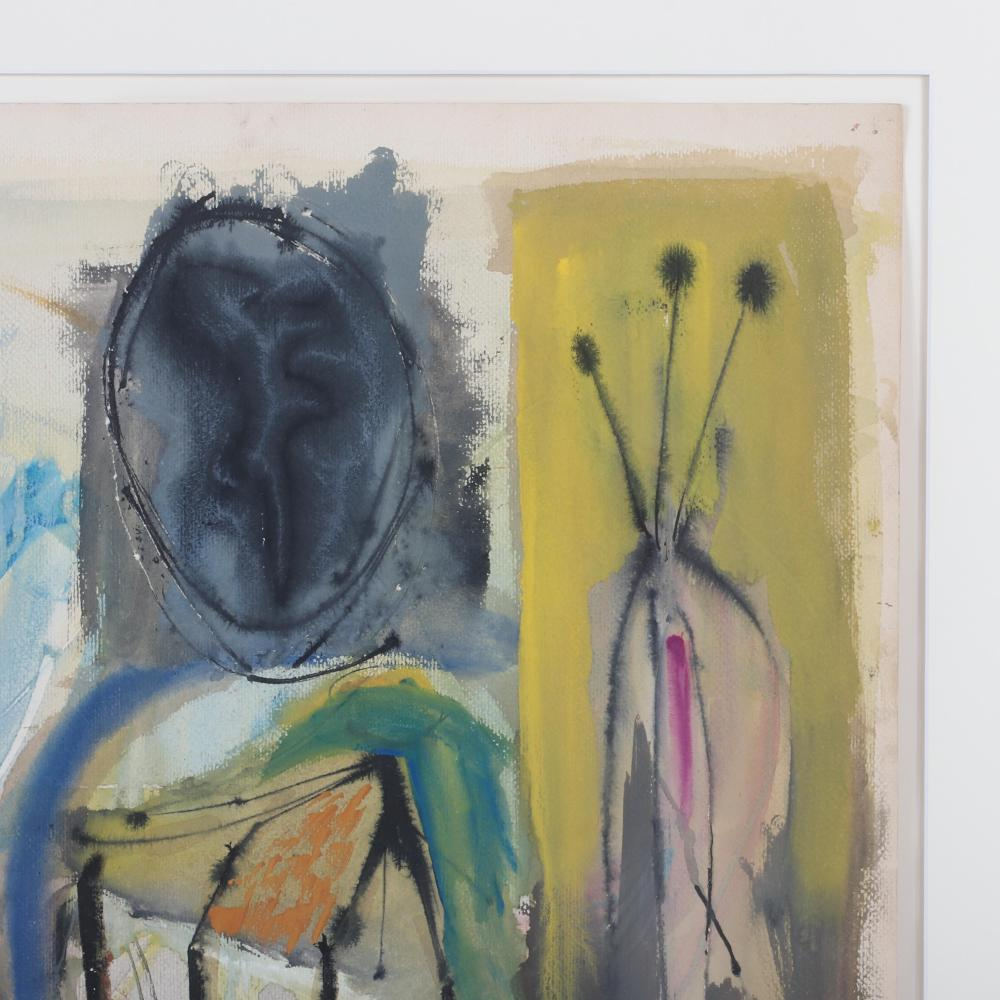 """John Grillo, (American, 1917- 2014), Untitled, 1948, watercolor on paper, 18""""H x 24""""W (image) 26""""H x 32""""W(frame)"""