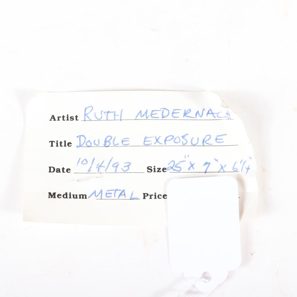 "Ruth Medernach, (American, 20th Century), Double Exposure, 1993, iron / metal, ""24""H x 6""W"