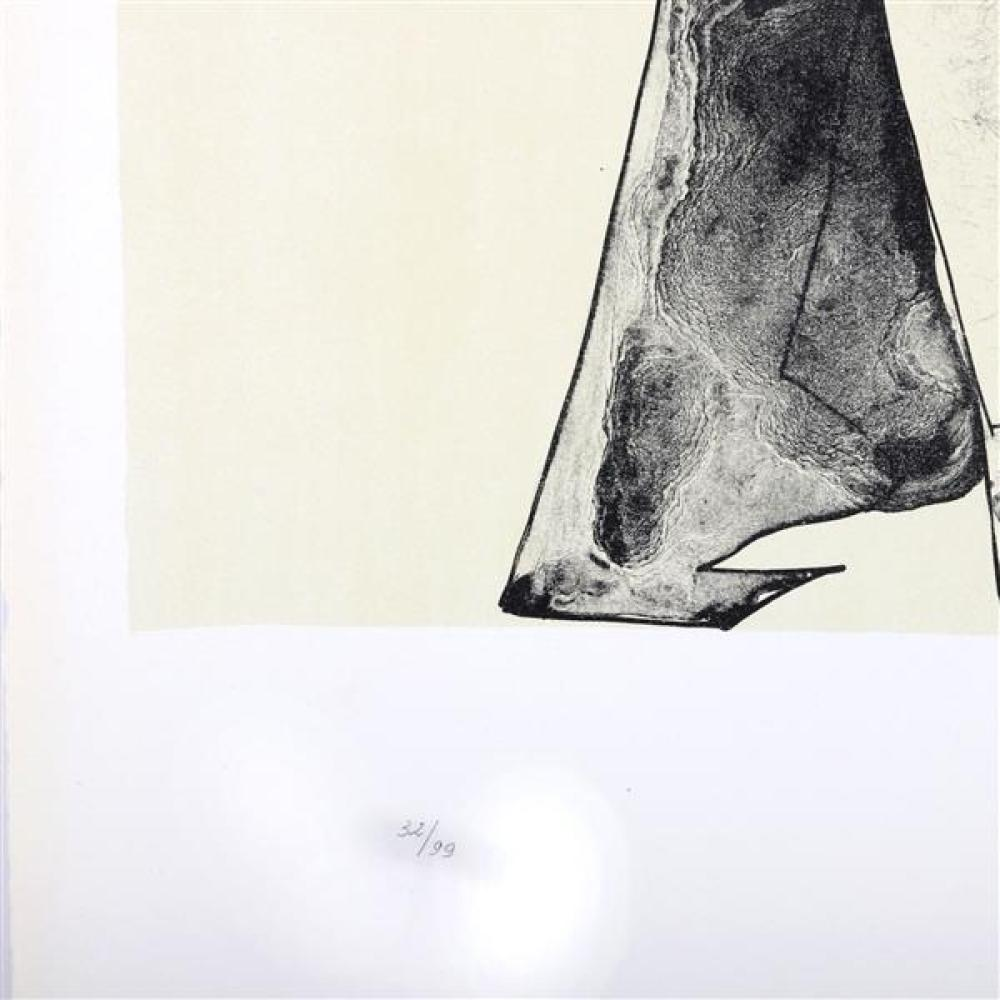 """Lynn Russell Chadwick, (British, 1914-2003), two figures, 1973, lithograph, 21""""H x 18""""W (plate), 27 1/2""""H x 19 1/2"""" (paper)"""