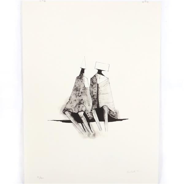 """Lynn Russell Chadwick, Two Figures, 1971, lithograph, 29 1/2""""H x 22""""W"""