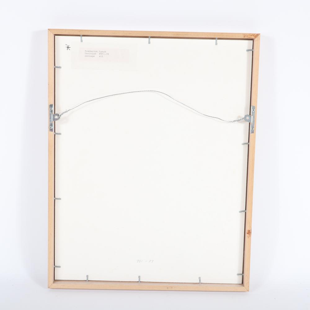 """Frederick Lynch, (American, 1935-2016), Untitled, #951-39, mixed media / collage on paper, 7 1/2""""H x 6""""W (image) 19""""H x 15""""W (frame)"""