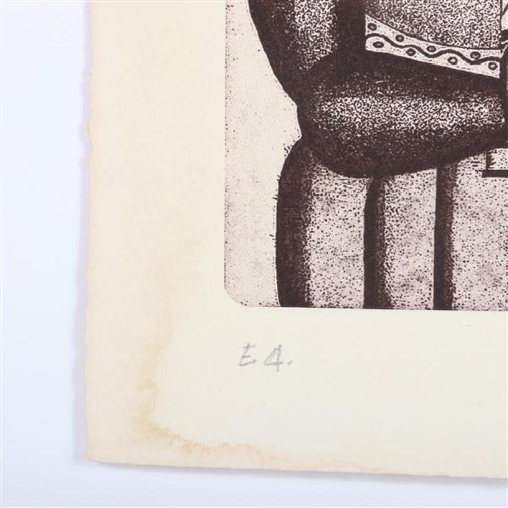 "Fernand Leger, (French, 1881-1955), Femme a la Cruche, etching, 6""H x 4""W (plate), 8 1/4""H x 6""W (paper)"