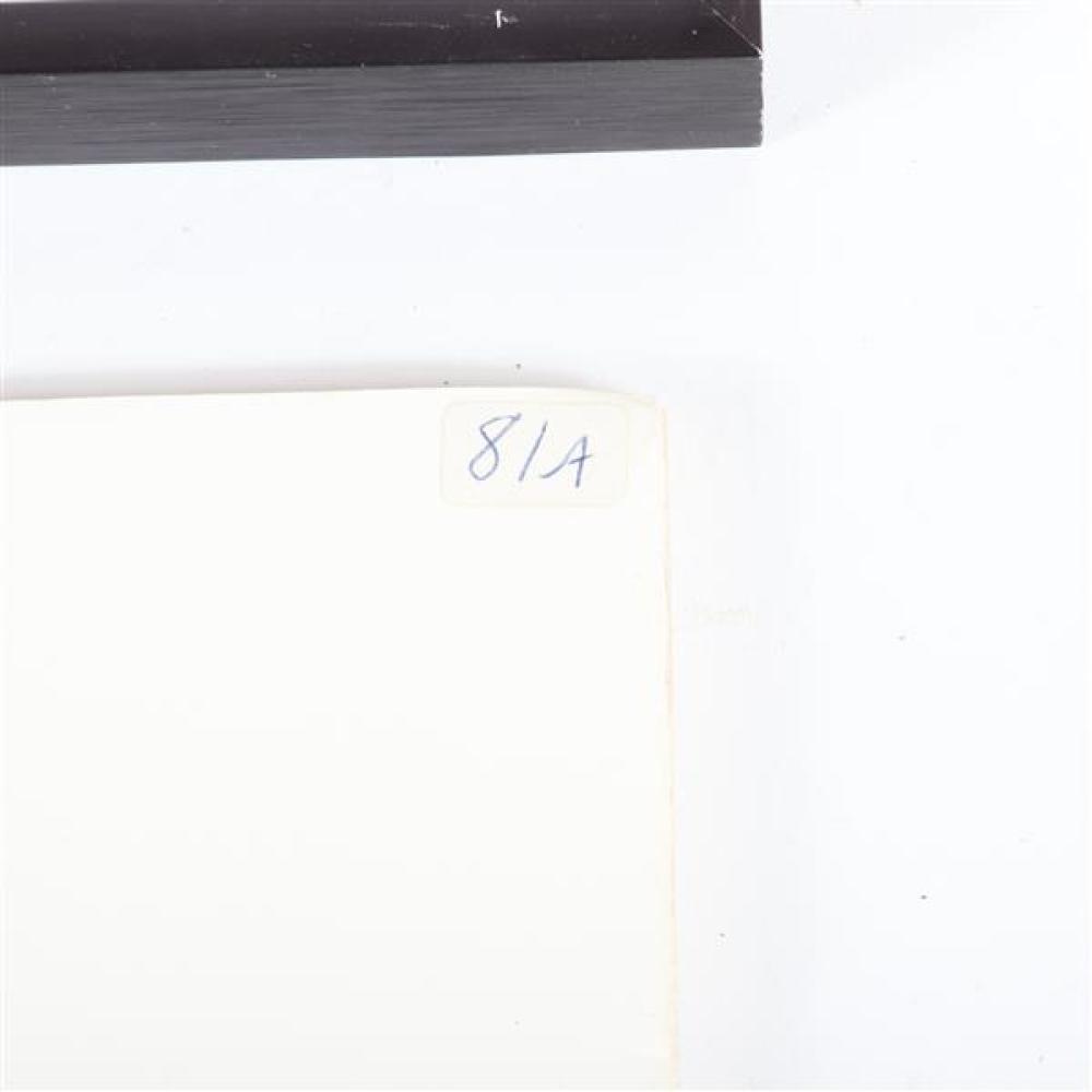 "J. Robert Cook, American 20th Century, ""High Fashion"", ""Big Boy, Orange Co, IN, two hand colored monochrome photographs, 7""H x 9""W (image of Big Boy),16 ""H x 20""W (frame)"